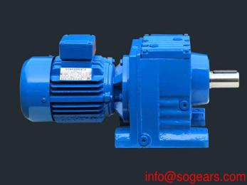 Coaxial helical inline gearbox