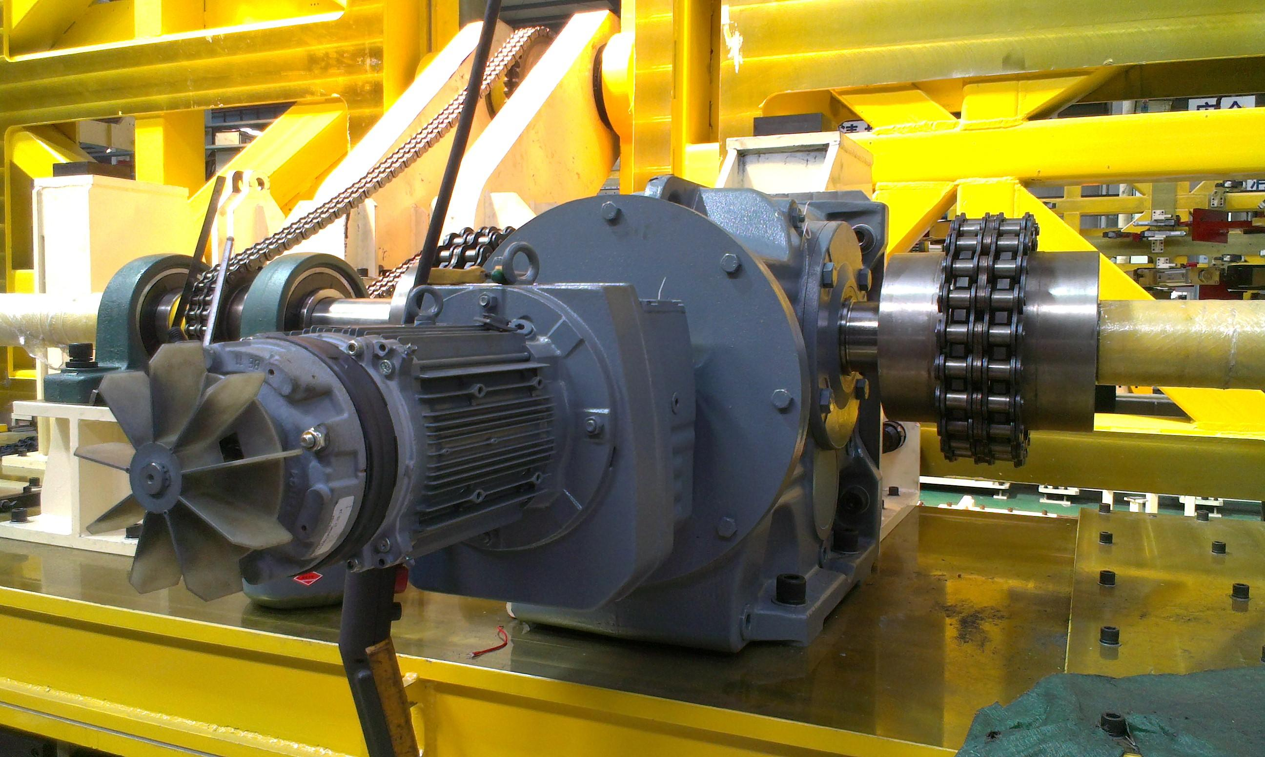 Inline helical gear reducer