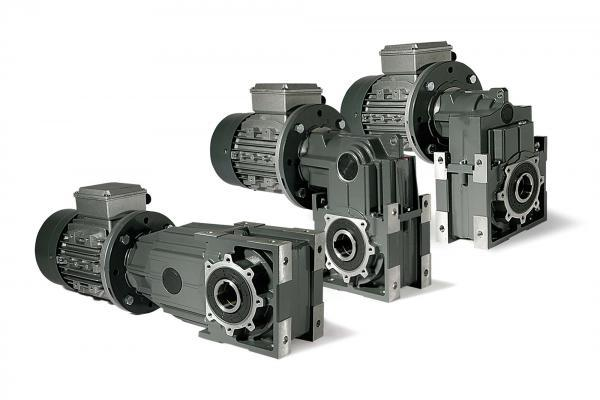 Helical bevel geared motor in mining industry