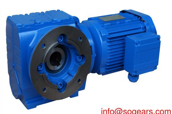 Helical worm gear motor sew