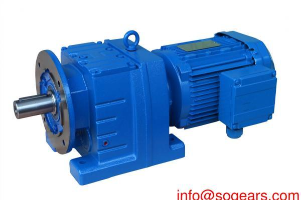 Inline ang helical gear reducer