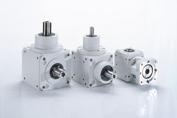 Right angle helical bevel geared motor