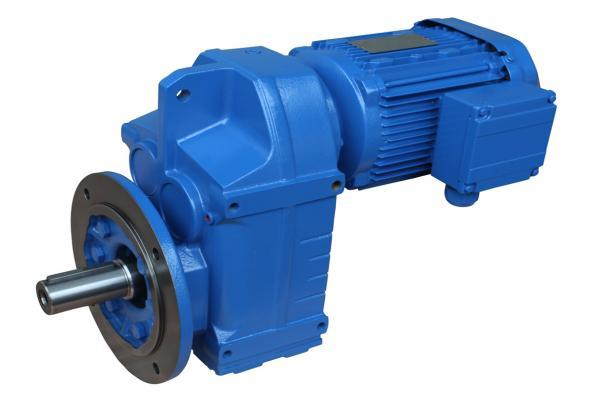 Shaft mounted geared motor in material handling industry