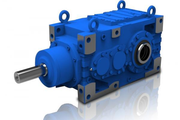 Single speed double reduction gearbox